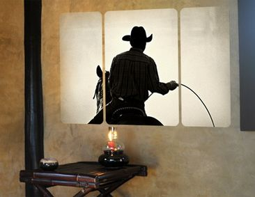 Product picture Wall Mural Riding Cowboy Triptych II