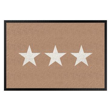 Produktfoto Fußmatte - Drei Sterne khaki