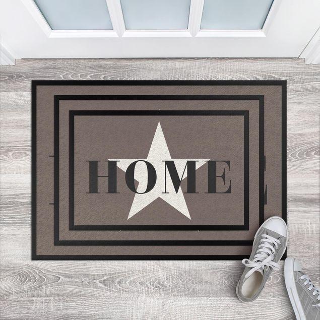 Produktfoto Fußmatte - Home Stern weiß