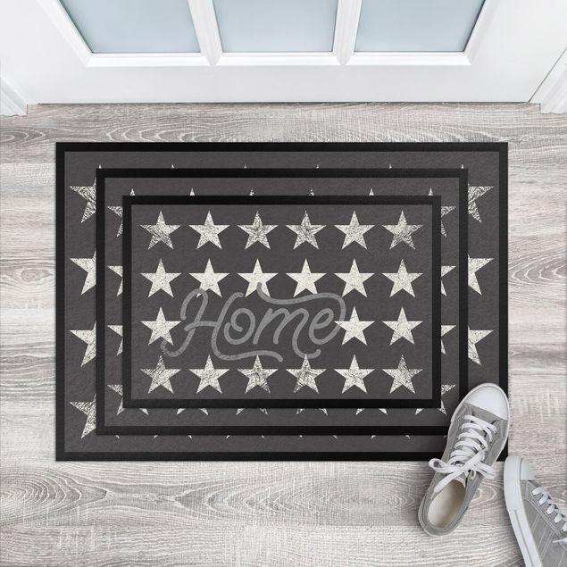 Produktfoto Fußmatte - Home Sterne dunkelgrau