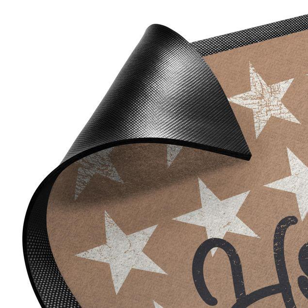 Produktfoto Fußmatte - Home Sterne khaki
