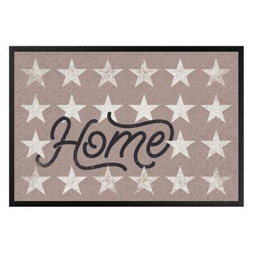 Produktfoto Fußmatte - Home Sterne taupe