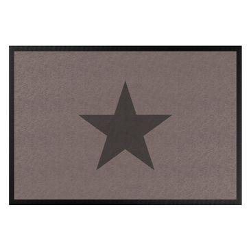 Produktfoto Fußmatte - Stern in graubraun