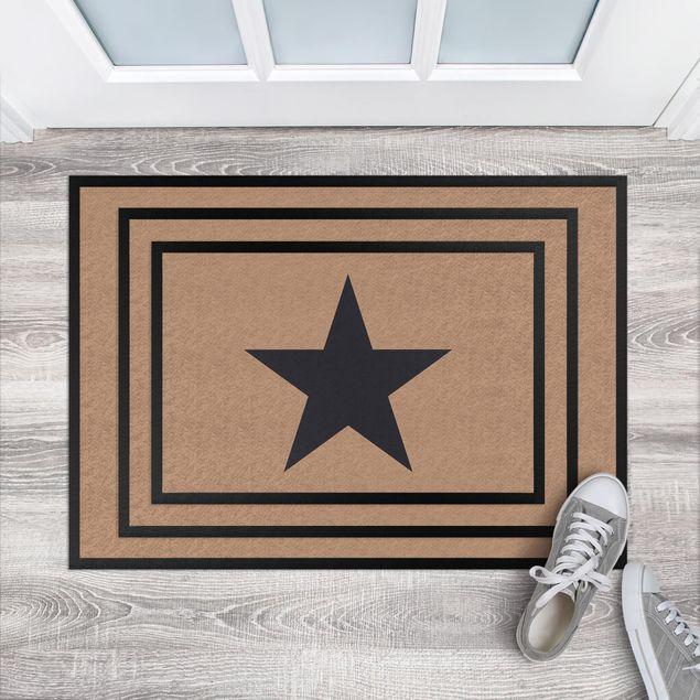 Produktfoto Fußmatte - Stern in khaki dunkelgrau