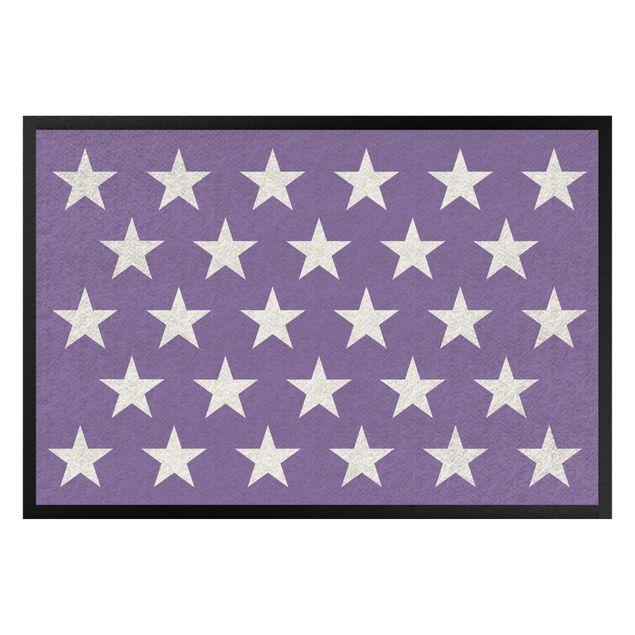 Produktfoto Fußmatte - Sterne versetzt flieder