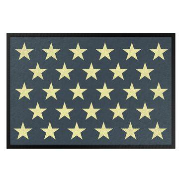 Produktfoto Fußmatte - Sterne versetzt petrol gelb