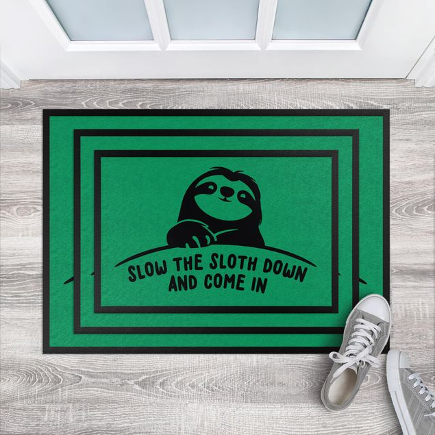 Produktfoto Fußmatte - Slow the sloth down