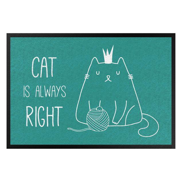 Produktfoto Fußmatte - Cat is always right