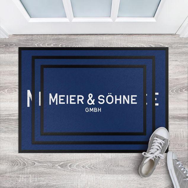 Produktfoto Fußmatte mit Wunschtext - Deine Firma Wunschtext