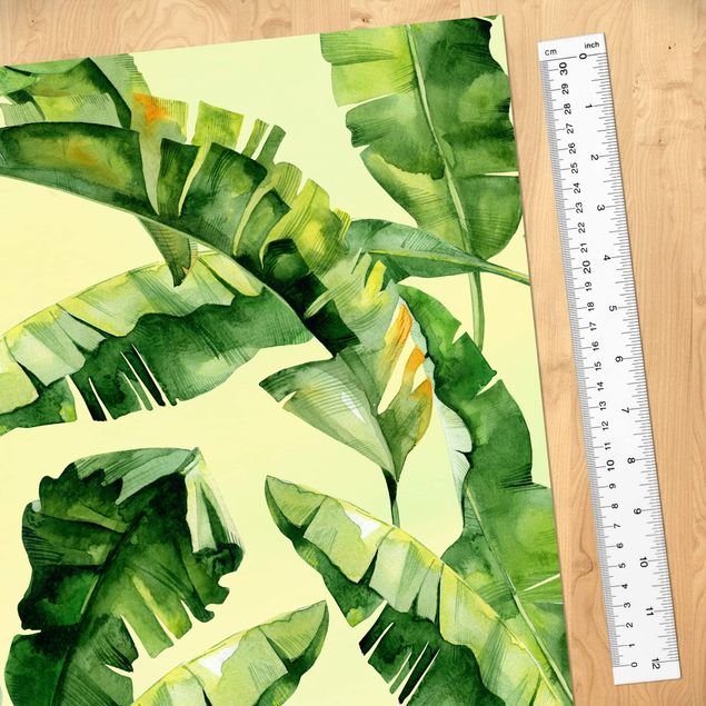 Immagine del prodotto Carta da parati larga - Banana Leaves Watercolor