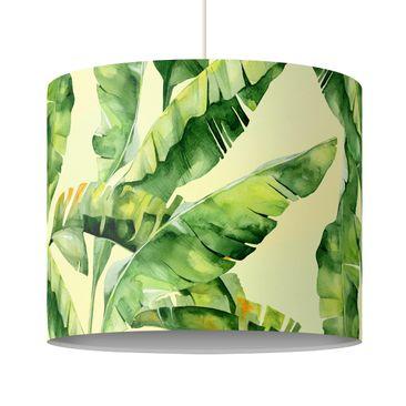 Produktfoto Pendelleuchte - Bananenblätter Aquarell - Lampenschirm