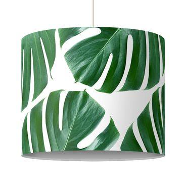 Produktfoto Pendelleuchte - Tropische grüne Blätter Monstera - Lampenschirm