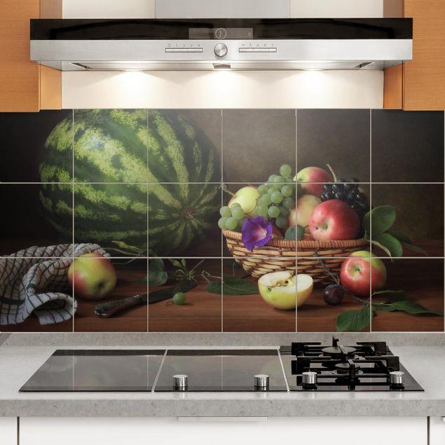 Produktfoto Fliesenbild - Stillleben mit Melone -...