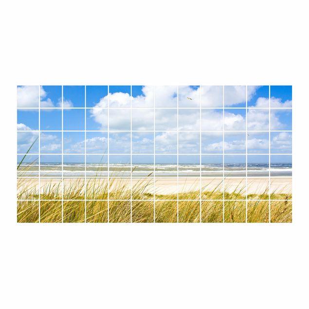 Produktfoto Fliesenbild - An der Nordseeküste - Fliesensticker Set Querformat