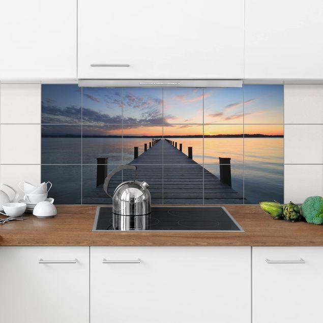 Produktfoto Fliesenbild - Ort der Ruhe - Fliesensticker Set Querformat