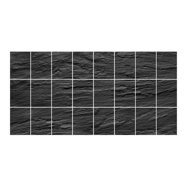 Produktfoto Fliesenbild - Schiefer - Fliesensticker Set Querformat
