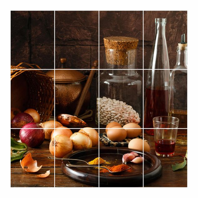 Produktfoto Fliesenbild - Düfte beim Kochen -...