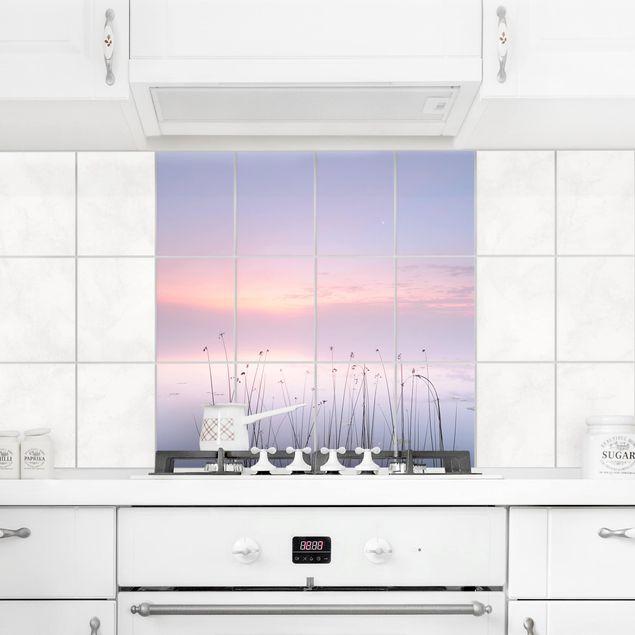 Produktfoto Fliesenbild - Idylle am See - Fliesensticker Set quadratisch