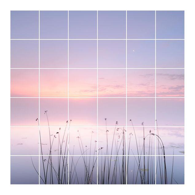 Produktfoto Fliesenbild - Idylle am See -...