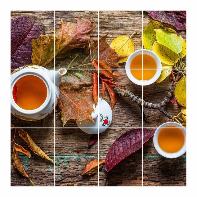 Produktfoto Fliesenbild - Tee im September -...