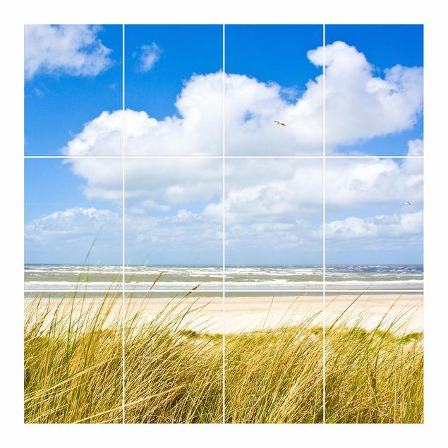 Produktfoto Fliesenbild - An der Nordseeküste - Fliesensticker Set quadratisch