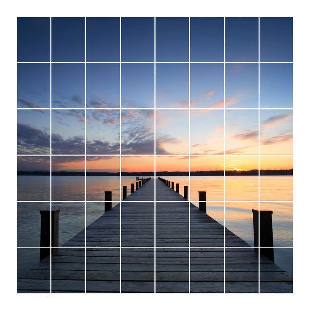 Produktfoto Fliesenbild - Ort der Ruhe - Fliesensticker Set quadratisch