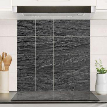 Produktfoto Fliesenbild - Schiefer - Fliesensticker Set quadratisch