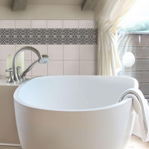Produktfoto Fliesenaufkleber - Dunkelgrau Weiß Muster Serie No.06 - 10cm x 10cm Fliesensticker Set