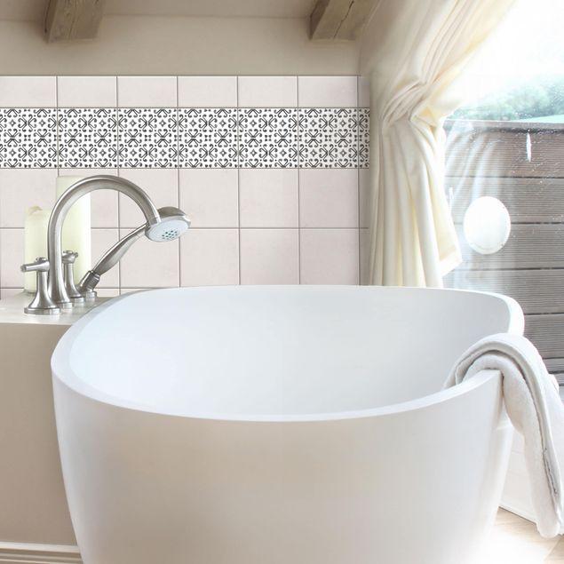 Produktfoto Fliesenaufkleber - Grau Weiß Muster Serie No.7 - 10cm x 10cm Fliesensticker Set