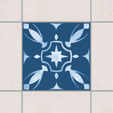 Immagine del prodotto Adesivo per piastrelle - Pattern Dark Blue White Series No.1