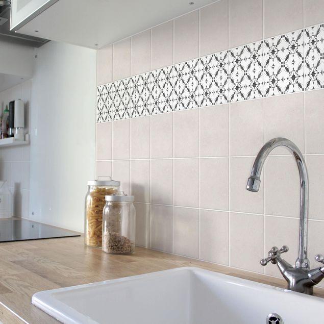 Produktfoto Fliesenaufkleber - Grau Weiß Muster Serie No.1 - 15cm x 15cm Fliesensticker Set