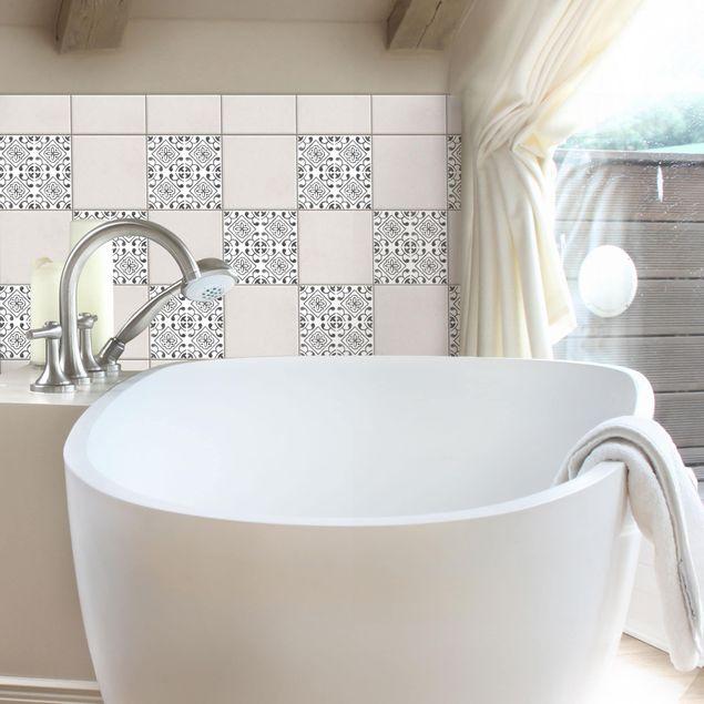 Produktfoto Fliesenaufkleber - Grau Weiß Muster Serie No.2 - 15cm x 15cm Fliesensticker Set