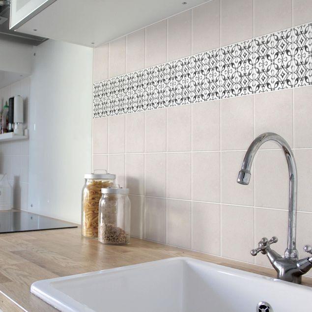 Produktfoto Fliesenaufkleber - Grau Weiß Muster Serie No.8 - 15cm x 15cm Fliesensticker Set
