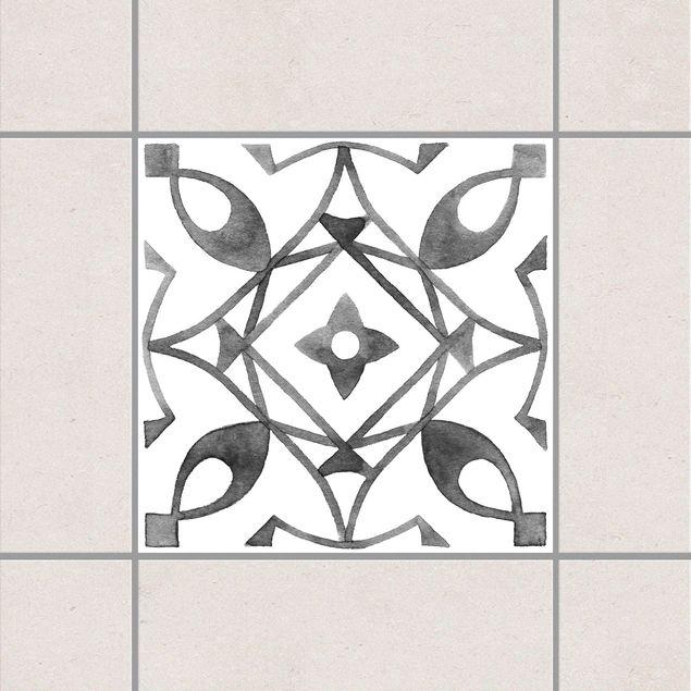 Produktfoto Fliesenaufkleber - Muster Grau Weiß...