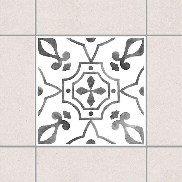 Produktfoto Fliesenaufkleber - Muster Grau Weiß Serie No.9 - 15cm x 15cm Fliesensticker Set