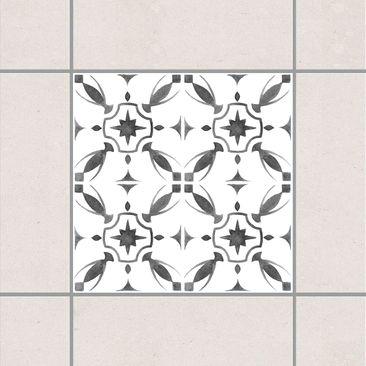 Produktfoto Fliesenaufkleber - Grau Weiß Muster Serie No.1 - 20cm x 20cm Fliesensticker Set