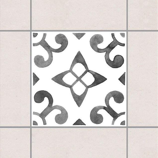 Produktfoto Fliesenaufkleber - Muster Grau Weiß Serie No.5 - 20cm x 20cm Fliesensticker Set