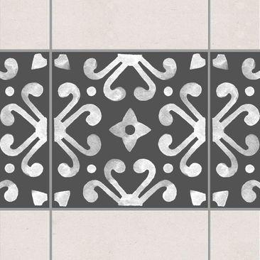 Immagine del prodotto Adesivo per piastrelle - Pattern Dark Gray White Series No.07