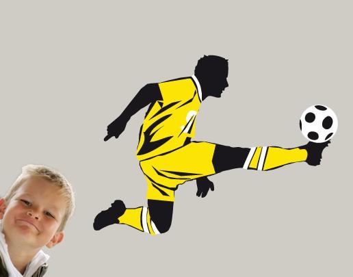 Produktfoto Wandtattoo Fußball - No.UL613 Fußball Schuss
