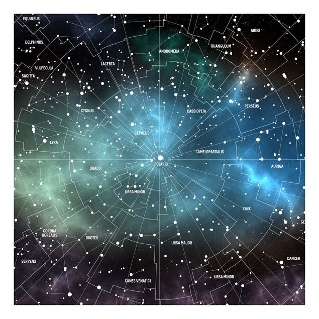 Produktfoto Beistelltisch - Sternbilder Karte Galaxienebel