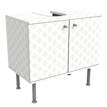 Immagine del prodotto Mobile per lavabo design - Diamond Lattice Light Beige- 60x55x35cm