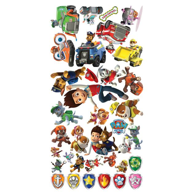 Produktfoto Fensterfolie Fenstersticker - Top PAW Patrol Fenstertattoos
