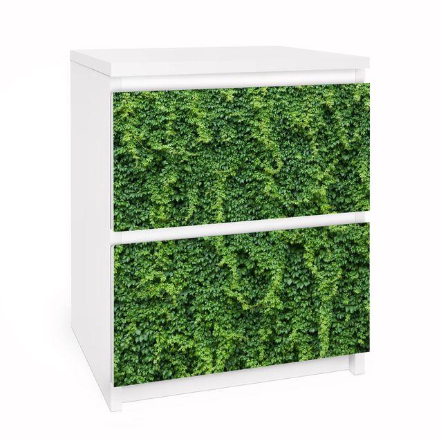 Produktfoto Möbelfolie für IKEA Malm Kommode - Efeu - Selbstklebefolie