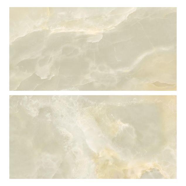 Produktfoto Möbelfolie für IKEA Malm Kommode - Onyx Marmor Creme - Selbstklebefolie