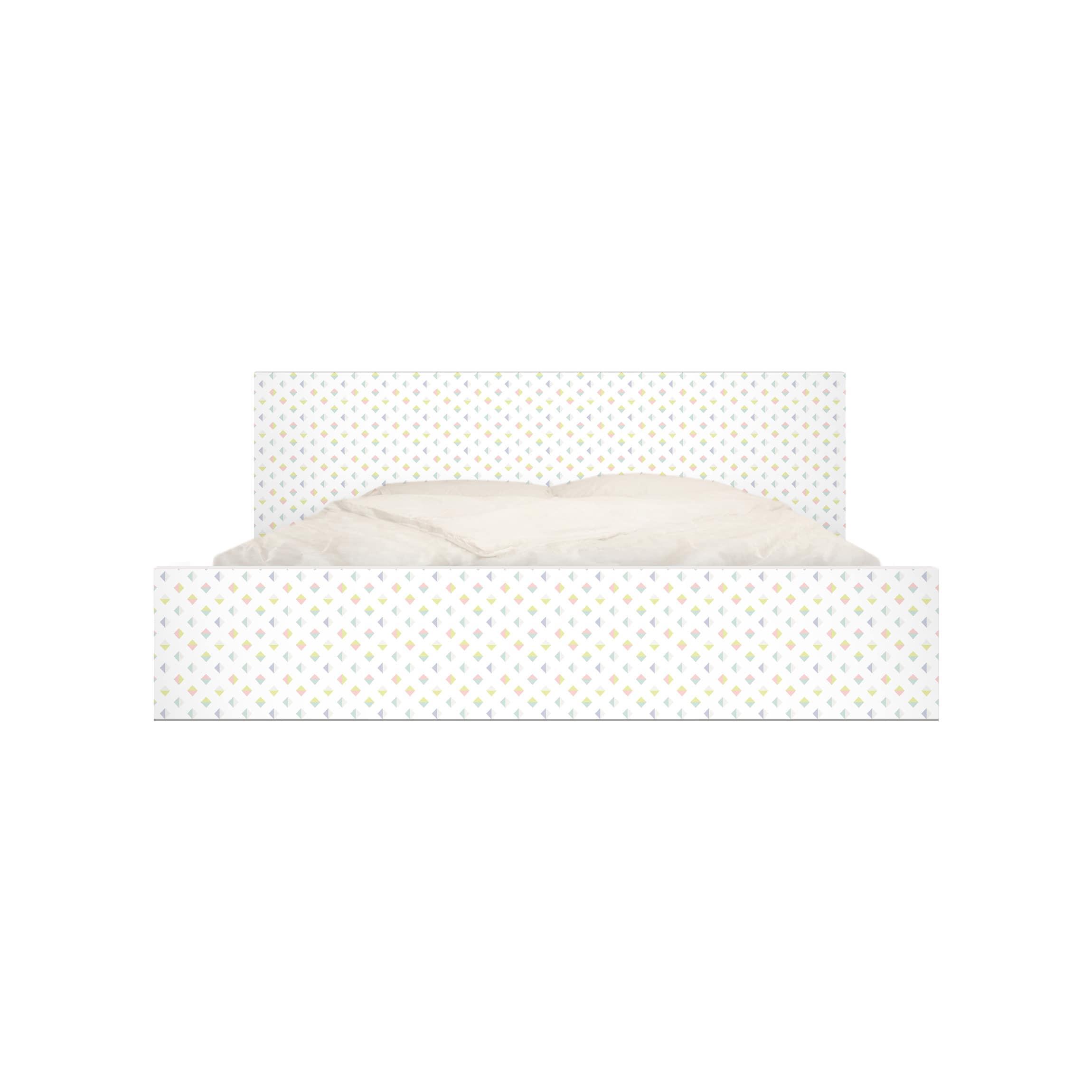 Mobelfolie Fur Ikea Malm Bett Niedrig 140x200cm Pastell Dreiecke