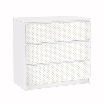 Produktfoto Möbelfolie für IKEA Malm Kommode - Pastell Dreiecke - Selbstklebefolie