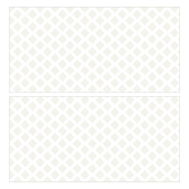 Produktfoto Möbelfolie für IKEA Malm Kommode - Rautengitter hellbeige - Selbstklebefolie