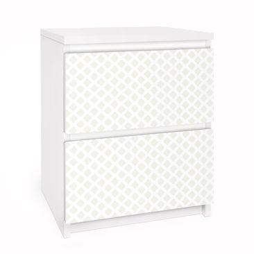 Immagine del prodotto Carta adesiva per mobili IKEA Malm Cassettiera 2xCassetti - Diamond Lattice Light Beige