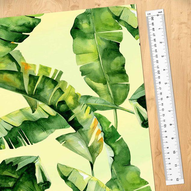 Produktfoto Möbelfolie - Bananenblätter Aquarell