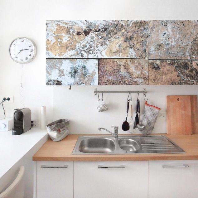 Produktfoto Möbelfolie - Naturmarmor Steinwand